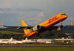 G-DHKC DHL (Gerry Hill) Tags: bridge airplane scotland airport nikon edinburgh d70 aircraft hill transport aeroplane cargo international airline boathouse edi freight gerry ingliston d90 turnhouse egph d80 d5600 d7200 b boeing 757 dhl 256 b757 757256pcf gdhkc