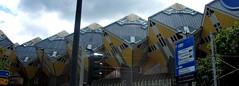 Cube houses in Rotterdam NL 07/07/19. (Ledlon89) Tags: rotterdam haarlem nl holland netherlands transport tram train sprinter signs