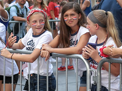 USWNT Victory Parade 2019 (tai_lee2) Tags: victory parade soccer womens final champions celebration ticker tape nyc manhattan world cup heroes street flag banner fans trophy team people person equal pay