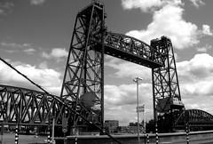 De Hef lifting railway bridge Rotterdam  07/07/19. (Ledlon89) Tags: rotterdam haarlem nl holland netherlands transport tram train sprinter signs