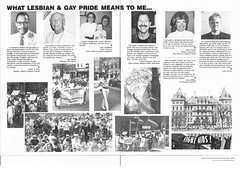 1980s   capital district gay and lesbian community center newsletter (albany group archive) Tags: joe norton keith stjohn ann loughman cindy crumrine steve johnson lynn walker ellen nesbitt rev ron gerber gay parade rights old albany ny vintage photograph historic historical picture history