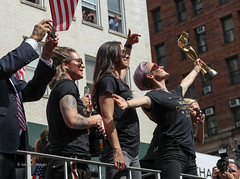 USWNT Victory Parade 2019 (tai_lee2) Tags: soccer world cup final champions mvp womens victory parade manhattan new york city nyc celebration trophy honor heroes patriotic cheer flag equal pay banner sign building people person ticker tape confetti fans float rapinoe fifa