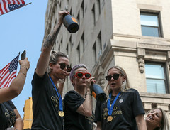 USWNT Victory Parade 2019 (tai_lee2) Tags: victory ticker tape parade heroes celebration soccer team honor trophy flag banner float street nyc fans building people person cheer patriotic equal pay world cup finals manhattan usa