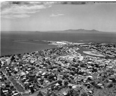 Townsville (Queensland State Archives) Tags: queensland qld australia blackandwhite bnw vintage history archives historical 1940s old photography photograph photo image town city people construction work workers train country sky clouds