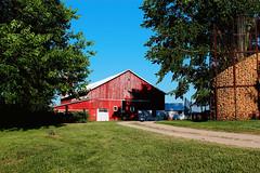 Barn & Corn Crib B (stephen.michaels) Tags: canoneosrebelt5 canonefs1855mmf3556ii agriculture farming barn corncrib trees grass