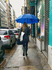 In the rain (carlos_ar2000) Tags: paseo walk lluvia rain chica girl mujer woman bella beauty sexy calle street linda pretty gorgeous paraguas umbrella azul blue montserrat buenosaires argentina