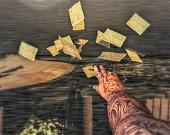 """"""" Out of Reach """" (maka_kagesl) Tags: secondlife sl second life game gaming games virtual videogame videogames paper hand pose art photography"""