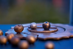 Brass sculpture by Pentacon (Indigo Skies Photography) Tags: sculpture fujifilm pentacon dof bokeh light colour park garden brass fujifilmxt2 pentacon50mmf18