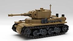 Siska Tip Medium Tank (John Moffatt) Tags: lego tank ldd digital designer medium treads dark tan pew bang rattatatta