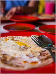 plaster with 3 plates of curry (Nor Salman) Tags: breakfast gh3 idris m43 meli panasonic25mm14 saffron su