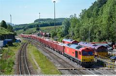 60062GB_6E18_PeakForest_220619 (Catcliffe Demon) Tags: railways railroading uk ukrailimages2019 dbcuk dbcargouk dbcargo ews class60 tug brushtraction brushtype5 diesellocomotive aggregates mma ealnos cemex boxwagon derbyshire peakdistrict