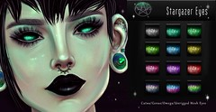 .::{Solstice]::. Stargazer Eyes (Salem L.(Solstice)) Tags: secondlife sl gothic goth genusproject catwa eyes omega demon alien fantasy space