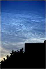 Noctilucent Clouds (Polar Mesospheric Clouds) Seen from Hale village Northwest UK 11th July 2019 (Cassini2008) Tags: noctilucentclouds polarmesosphericclouds atmoshericoptics