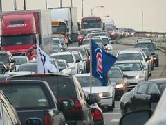 november 2016 (timp37) Tags: cars cicero chicago illinois november 2016 cubs flag traffic bridge