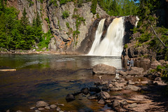 Baptism River High Falls 20190622-_DSC3415 (Prairieworks Pictures) Tags: baptismriver highfalls minnesota northshore tettegouchestatepark green landscape longexposure slowshutterspeed sunny water waterfalls zeiss loxia loxia250 sony sonyalpha a7tiii
