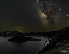 With Jupiter In Mind (brett327) Tags: milkyway craterlake astrophotography tracked oregon canon 60d ioptron nationalparks jupiter saturn galaxy stars volcano lake