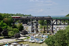 BB&T (Boats, Bridge,and Train) (THE RESTLESS RAILFAN) Tags: