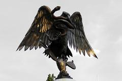 Águila y serpiente (laap mx) Tags: mexico mexicocity ciudaddemexico escudonacional aguila eagle serpiente snake escultura sculpture metal