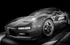 NSX (Dave GRR) Tags: acura supercar nsx sportscar hypercar auto show white toronto black classic cars coffee monochrome mono olympus exotic carsncoffee