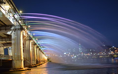 Music,light and colours for a beautiful evening! (Rekha Prasad) Tags: seoul southkorea banpo bridge nightshot nikon d3300 nikor 35mm explore flickrexplore 42 banpobridge rainbowfountain moonlightrainbowbridge banpohangangpark yourbestshot2019