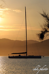 Sunset over St. Tropez bay (chk.photo) Tags: ocean landschaft outdoor landscape water light sainttropez sailboat yacht backlight sailor frankreich france boot coted'azur sunset segelboot flickrtravellaward boat flickr meer