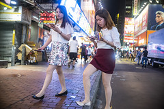 Friday Night (人間觀察) Tags: leica leicam hong kong street photography people candid city stranger public space walking off finder road travelling trip travel 人 陌生人 街拍 asia girls girl woman 香港 wide open canon canonrf35mmf15 35mm f15 ltm