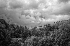 GatheringClouds (Tony Tooth) Tags: nikon d7100 sigma 70mm cloud rainclouds stormy thundery landscape hdr countryside danebridge staffs staffordshire staffordshiremoorlands shutlingsloe bw blackandwhite monochrome england