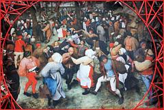 """""""La danse de la mariée en plein air"""" 1566 Pieter Brueghel l'Ancien, Toile exposée au Detroit Institute of Arts USA, reproduction au Château de Grand-Bigard, Dilbeek, Brabant flamand, Belgium (claude lina) Tags: claudelina belgium belgique belgië châteaudegrandbigard grandbigard dilbeek brabantflamand floraliabrussels painture painting oeuvre tableau pieterbrueghellancien ladansedelamariéeenpleinair"""
