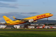 G-DHKC Boeing B757-256(SF) EGPH 11-07-19 (MarkP51) Tags: gdhkc boeing b757256sf b757 dhlairuk d0 dhk edinburgh airport edi egph scotland airliner aircraft airplane plane image markp51 nikon d500 nikon70200f4gvr sunshine sunny cargo freighter