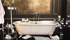'Happiness is a Long Hot Bubble Bath' (desiredarkrose) Tags: mossu soy anxiety apple fall bathroom bath slblog slinterior interior decorationidea decor deco sldecor