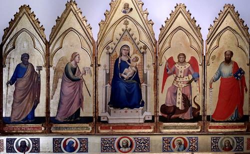 IMG_7369E Giotto di Bondone 1267-1337 Firenze  Polittico  Polyptych  ca 1330 Bologna Pinacoteca Nazionale