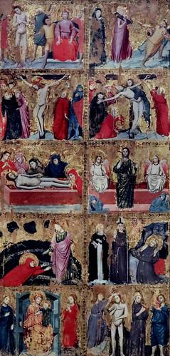 IMG_7370C Maestro di S Nicolo degli albari vers 1320 Bologna  Storie di Cristo e santi   Stories of Christ and saints Bologna Pinacoteca Nazionale