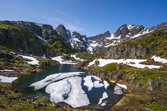 Lofoten, Norway (StarCitizen) Tags: lofoten norway fjord lake ice snow sky mountains water ngc npc