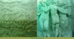 Underwater Dream (andrefromont) Tags: andréfromont andrefromontfernandomort fernandomort diptych diptyque trois three 3 3grâces sousmarin underwater green vert