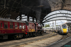 A contrast in time (JamesN1994) Tags: lms jubilee 45699galatea yorkstation york class800 hitachi