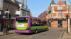 YK08 EPJ, Ipswich Buses Optare Versa 150, Tacket Street, 12th. July 2019. (Crewcastrian) Tags: ipswich buses ipswichbuses transport tacketstreet optareversa yk08epj 150