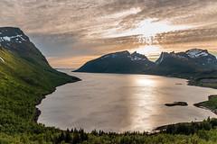 Midnight sun (jo.p138) Tags: outside norway senja landscape mountain fjord sunset