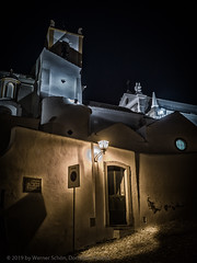 Tavira Night Scene (WS Foto) Tags: tavira algarve portugal night church europe eu yellow blue latern laterne kunstlicht glühlampe kirche beleuchtet gasse alley