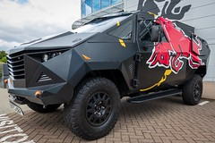Photo of Red Bull Party Truck based on a Land Rover Defender