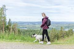 with a dog in Puijo 2 (VisitLakeland) Tags: finland kuopio kuopiotahko lakeland puijo puijonaturepark summer animal dog eläin kesä koira luonto maisema nature outdoor scenery sekarotuinen