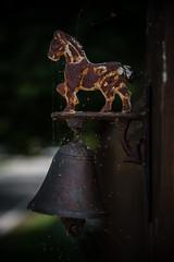 Rust Never Sleeps (HW111) Tags: bell bokeh fence horse metal rust spiderwebs webs details hollywilson fencefriday hff