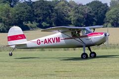 G-AKVM Cessna 120 - Breighton (benallsup) Tags: aviation aircraft plane flying fly aeroplane breighton vac vintage flyin yorkshire gakvm cessna 120