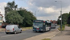 AU05 DMX, First Volvo 69009, Ipswich, 12th. July 2019. (Crewcastrian) Tags: ipswich buses transport first easterncounties heathroad volvo wright au05dmx 69009
