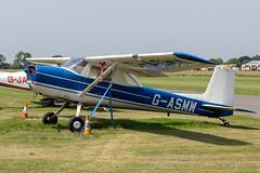 G-ASMW Cessna 150 - Breighton (benallsup) Tags: aviation aircraft plane flying fly aeroplane breighton vac vintage flyin yorkshire gasmw cessna 150 tailwheel