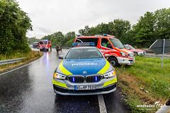 Alleinunfall A66 Erbenheim 12.07.19 (Wiesbaden112.de) Tags: a66 abfahrt alleinunfall ausfahrt autobahn autobahnpolizei erbenheim feuerwehr kastel kurve notarzt nässe polizei rettungsdienst stenzel unfall vku vu verkehrsunfall wiesbaden wiesbaden112 sst deutschland