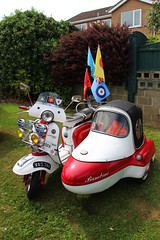 Lambretta and Side Car (big_jeff_leo) Tags: bike motorbike motorcycle motorshow transport