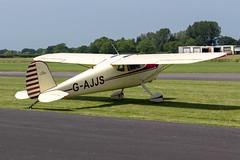 G-AJJS Cessna 120 - Breighton (benallsup) Tags: aviation aircraft plane flying fly aeroplane breighton vac vintage flyin yorkshire gajjs cessna 120