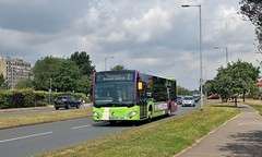 BF65 HVT, Ipswich Buses Citaro 153, Heath Road, 12th. July 2019. (Crewcastrian) Tags: ipswich buses ipswichbuses transport heathroad mercedesbenz citaro bf65hvt 153