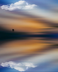 Reflection.. (Julie Greg) Tags: sky colours canon clouds sea water nature nautre england kent art abstract
