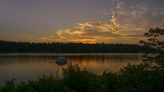 When Day is Done.. (Lindaw9) Tags: shanty bay northern ontario westarmoflakenipissing cloud formations sunset sundown dusktreeline trees silhouettes